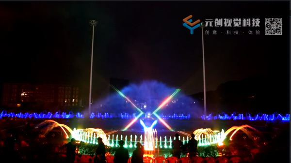 贵州三都县水幕激光秀